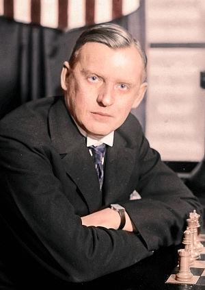English: Russian-born French chess champion Al...