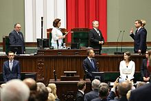 Andrzej Duda taking the oath of office, 6 August 2015