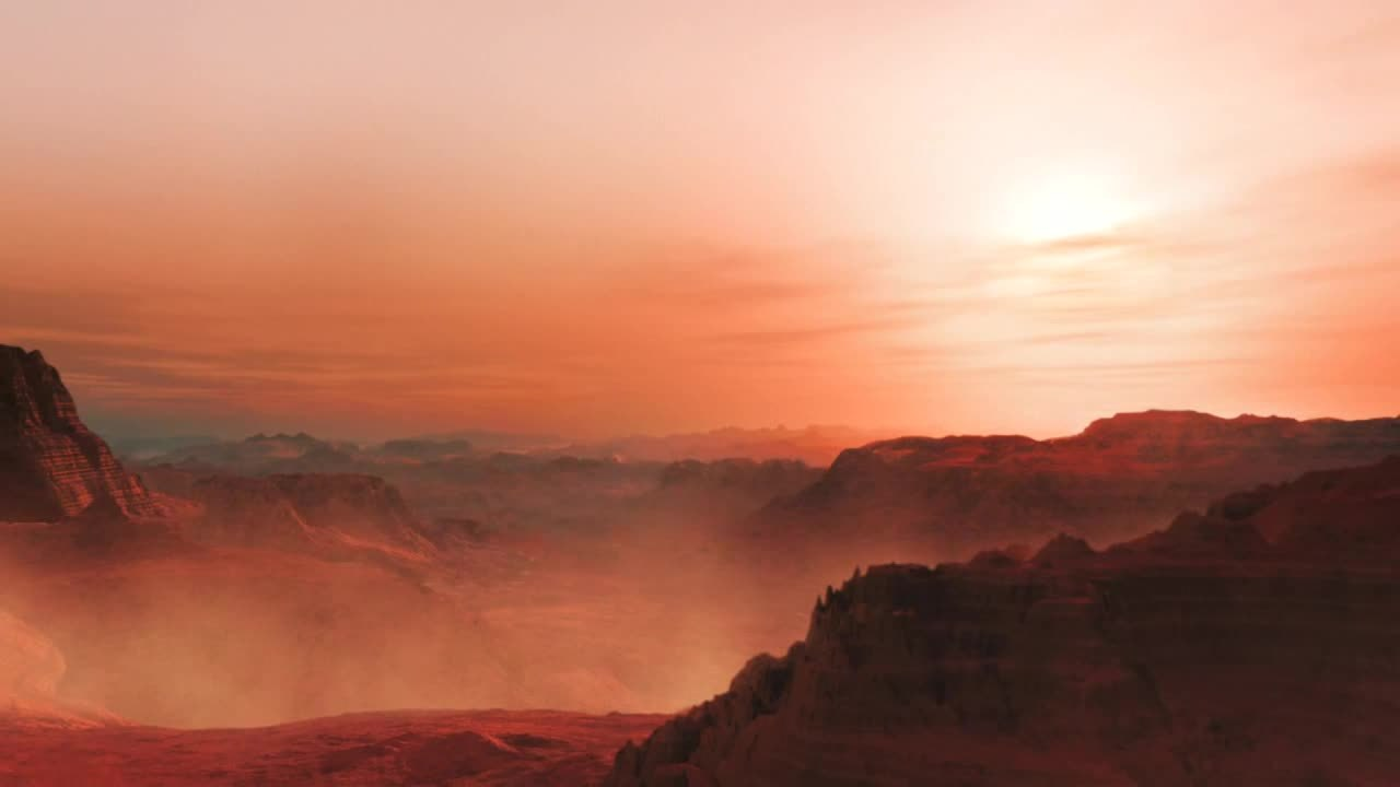 New 3d Animation Wallpaper File Artist S Impression Of A Sunset On The Super Earth