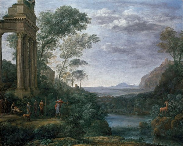 Landscape With Ascanius Shooting Stag Of Sylvia