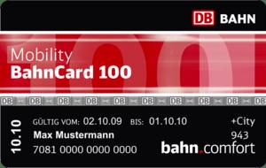 Deutsch: BahnCard 100