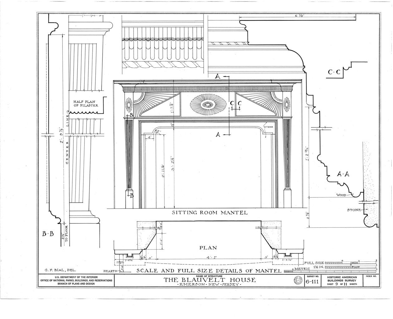 File Blauvelt House Old Hook Road Emerson Bergen County Nj Habs Nj 2 Emso 1 Sheet 9 Of 11