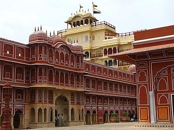 English: Chandra Mahal at Jaipur (Rajasthan, I...
