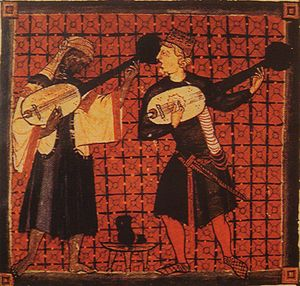English: Christian_and_Muslim_playing_ouds