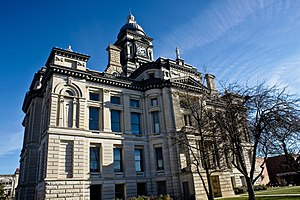 Clinton County Courthouse in Frankfort, Indiana