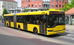 Low-floor bus Solaris Urbino 18 of the Dresden...