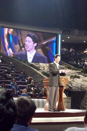 English: Joel Osteen at Lakewood Church, Houst...