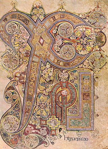 The Chi Rho monogram from the Book of Kells is...