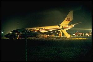 Braathens SAFE Boeing 737-205 LN-SUD after lan...