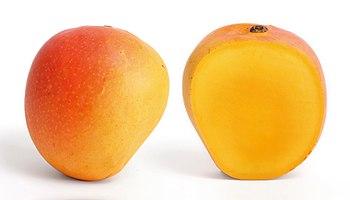 Mango and its longitudinal section