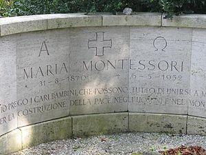 Grave of Maria Montessori in Noordwijk, The Ne...