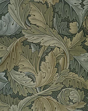 Acanthus wallpaper.