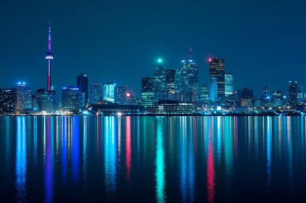 Night skyline of Toronto May 2009