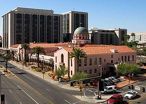 Pima County Courthouse, Tucson, AZ with Superi...