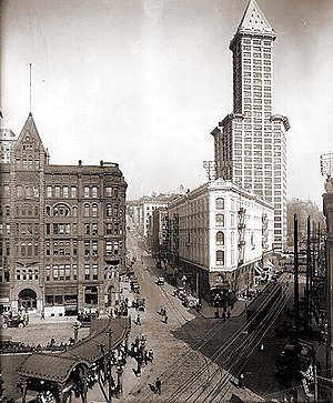 Pioneer Square, March 17, 1917 Looking east fr...
