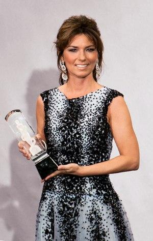 English: Shania Twain at the 2011 Juno Awards ...