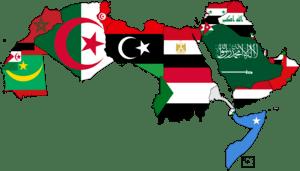 Flag map of Algeria.