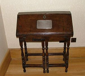 Samuel Johnson's desk, in Broadgates.