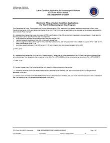 Labor Condition Application Wikipedia