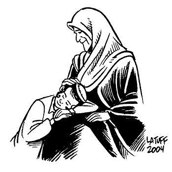 """""""Forgiveness 6"""" by Carlos Latuff."""