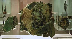 Fragments of the Antikythera Mechanism.