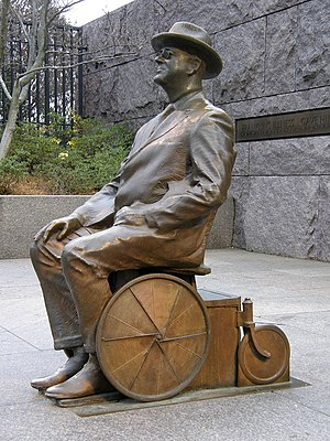 English: Statue of Franklin Delano Roosevelt i...