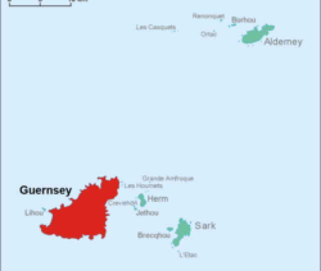 Location Of Guernsey In The Bailiwick Of Guernsey