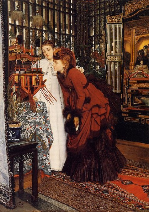 James Tissot - Young Ladies Looking at Japanese Objects