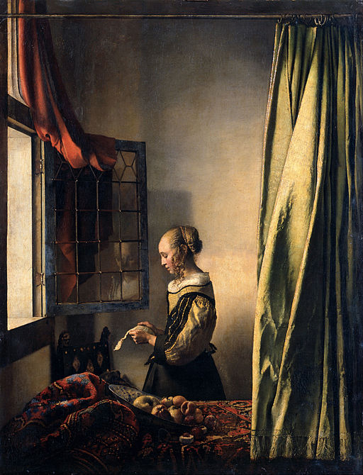 """""""Girl Reading a Letter at an Open Window"""" by Johannes Vermeer"""