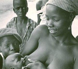 Photo taken in 1967 or 1968. The mother was on...