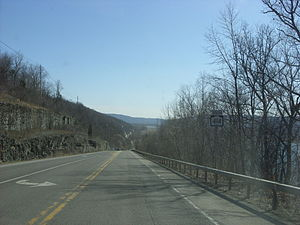 Southbound on New York State Route 414 in Hect...