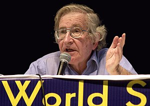 Noam Chomsky at the World Social Forum in 2003...