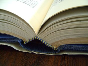 English: Picture of an open book, that does no...