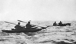 English: Sailors Operation Frankton at the beg...