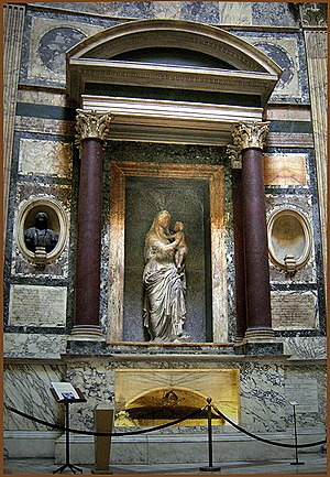 Pantheon, Rome, Raphael's tomb.