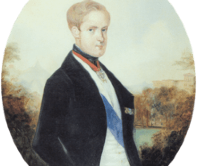 Emperor Pedro Ii Of Brazil With Blond Hair C 1846