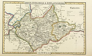 Pigot and Co (1842) - Map of Leicestershire and Rutlandshire