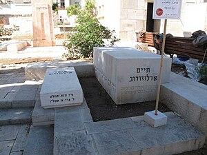Haim Arlosoroff grave at the Trumpeldor Cemete...