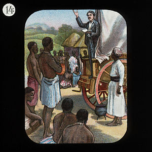 Preaching from a Waggon (David Livingstone) by...