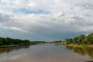Rio Grande River just south of Albuquerque at ...