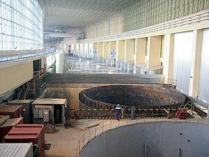 Русский: Машзал Саяно-Шушенской ГЭС