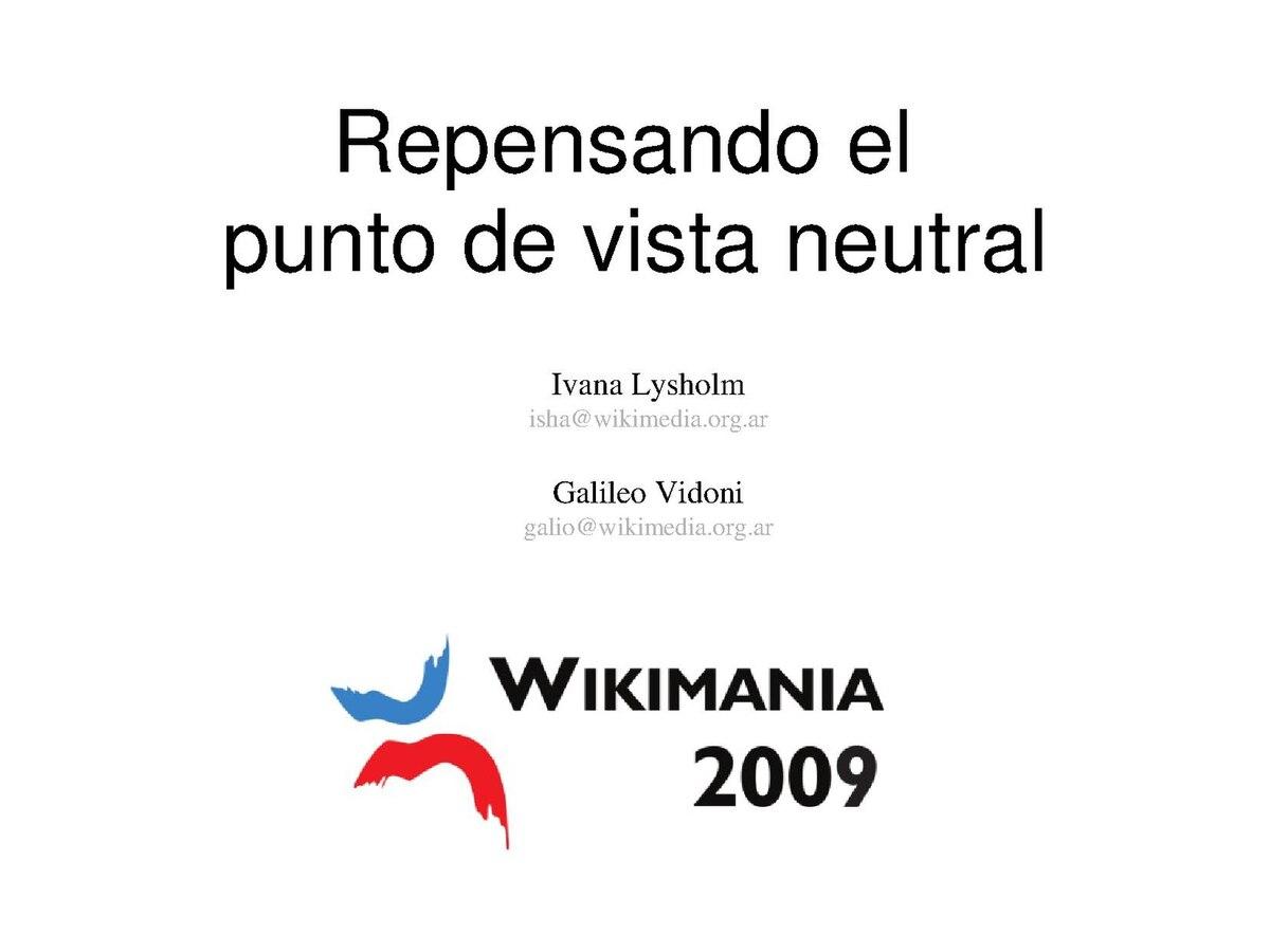 Archivo:Wikimania2009-Repensando el punto de vista neutral