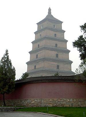 English: Big Wild Goose Pagoda, Xian, China, S...