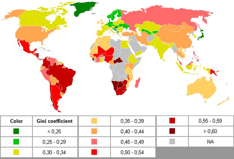Indice de Gini des revenus