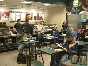 The cafe at the Barnes & Noble in Hoboken, New...