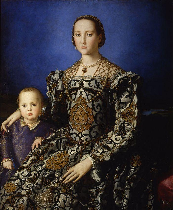 Renaissance florentine costume. 16th century gown. Eleanor of Toledo