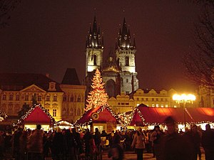 Christmas market on Old Town Square, Prague 2007