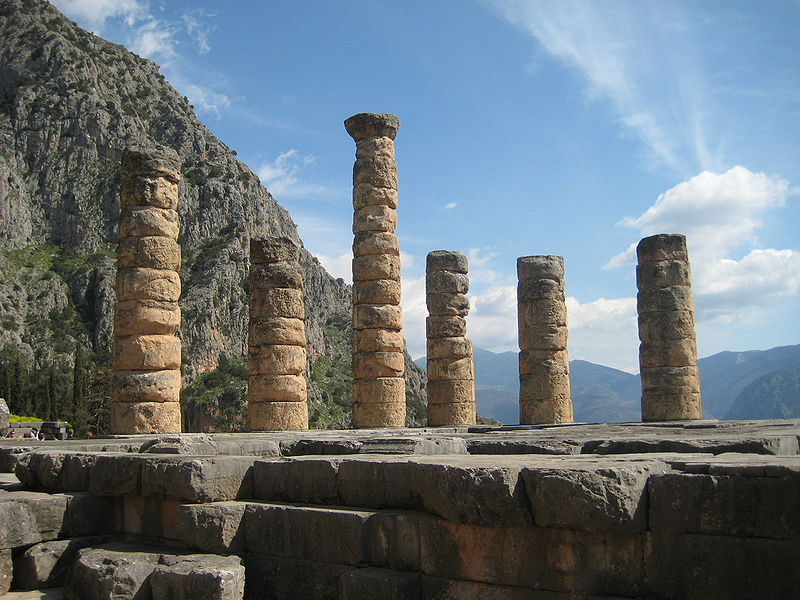 Αρχείο:Columns of the Temple of Apollo at Delphi, Greece.jpeg