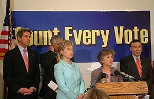 Senators Boxer and Clinton unveil the Count Ev...