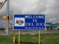 Welcome sign, Del Rio, Texas